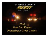 2010 Year End Report Protecting a Great County - Otter Tail County