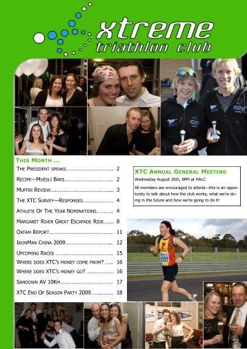 August 2009 - Xtreme Triathlon Club