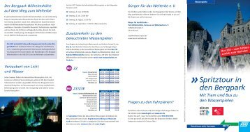 "Flyer ""Spritztour in den Bergpark"" - KVG"