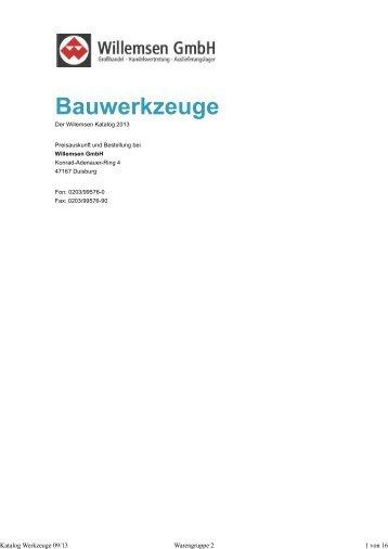 Bauwerkzeuge - Willemsen GmbH