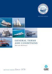 Hull and Machinery Terms & Conditions 2011 - QBE European ...