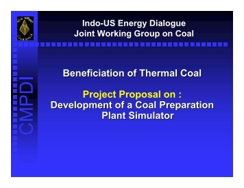 Development of a Coal Preparation Plant Simulator - Office of Fossil ...