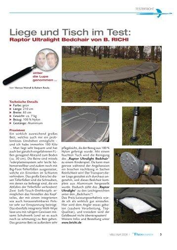 Raptor UltralightBedchair - B.Richi