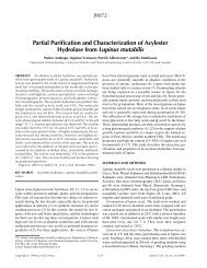 Partial Purification and Characterization of Acylester Hydrolase from ...