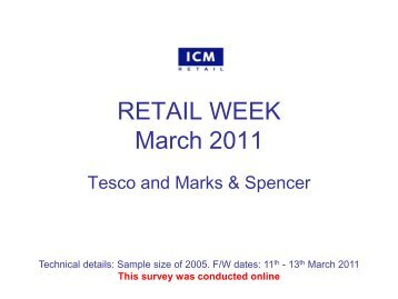 Retail Week Poll – Tesco vs. Marks & Spencer's - ICM Research
