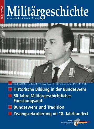 Historische Bildung in der Bundeswehr 50 Jahre ... - Ghbehn.de