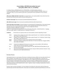 Course Syllabus: GER 2202 Intermediate German II Spring 2012 ...