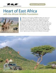 Heart of East Africa - African Wildlife Foundation