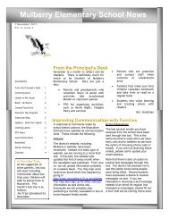 MulberryNewsletterNov2011 - Muscatine Community School District