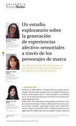 Un estudio exploratorio sobre la generación de experiencias ...