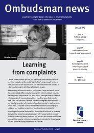 Ombudsman News Issue 90 - Financial Ombudsman Service