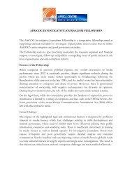 AFRICOG INVESTIGATIVE JOURNALISM FELLOWSHIP The ...