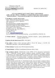 SAMaV Bratislava - Oprava optimalizačného systému
