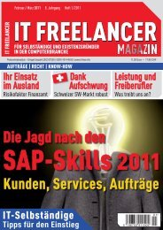 IT Freelancer Magazin Nr. 1/2011