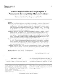 Pesticides Exposure and Genetic Polymorphism of Paraoxonase in ...