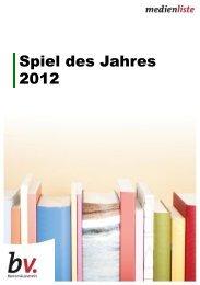 Spiel des Jahres 2012 - Borromedien