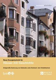 Häuser mit Geschichte - Energie Tirol
