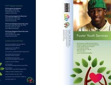 Foster Youth Services - SFUSD School Health Programs