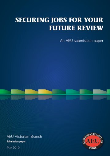Victorian Skills Reforms Review submission - Australian Education ...