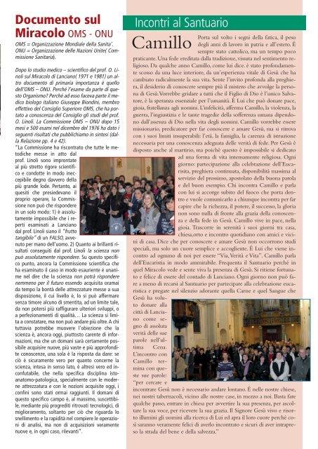 Anno 2 - n° 12 - Il Santuario del Miracolo Eucaristico