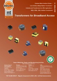 Transformers for Broadband Access & Fibre ... - Nuvotem Talema