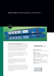 DTS CAE-4 Professional Encoder - Audio Rents