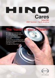 "The ""hand"" is also a ""heart."" - Hino Motors Canada, Ltd."