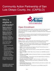 download information - Community Action Partnership of San Luis ...