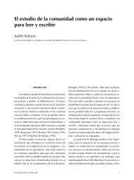 El estudio de la comunidad como un espacio para leer y ... - SciELO