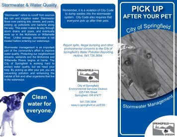 pet waste brochure front.ai - City of Springfield