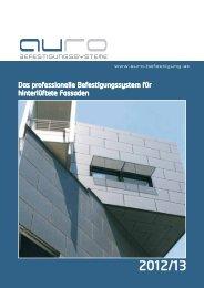 Das professionelle Befestigungssystem für hinterlüftete Fassaden