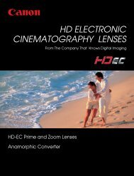 HD-Electronic Cinematography catalog (PDF file) - Canon