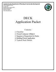 DECK Application Packet - Caroline County!