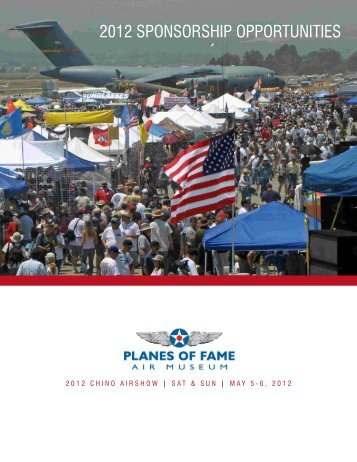 2012 SPONSORSHIP OPPORTUNITIES - Planes of Fame