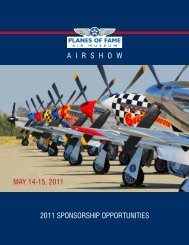 2011 sponsorship opportunities airshow may 14 ... - Planes of Fame