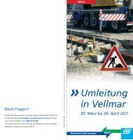Bauarbeiten für die Tram Vellmar - KVG