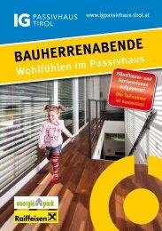 BauherrenaBende - IG Passivhaus Tirol