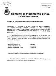 integrazione del vigente regolamento sull'ordinamento degli uffici e ...
