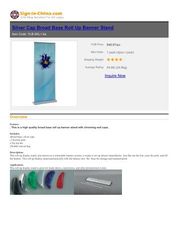 sign-in-china-Silver Cap Broad Base Roll Up Banner Stand