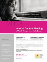 Annual General Meeting - Family Services of the North Shore