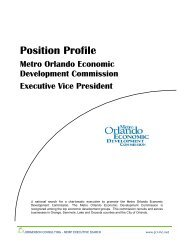 Position Profile - Metro Orlando Economic Development Commission