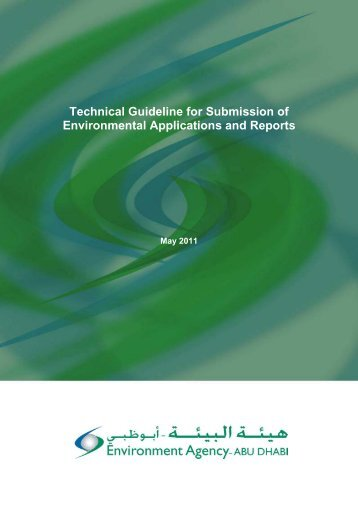 Technical Guideline for Submission of Environmental Applications ...