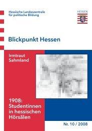 Blickpunkt Hessen - Hessische Landeszentrale für politische ...