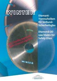 Sicherheitsglas Diamond OD saw blades for Safety Glass