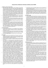 General terms of Business: Business Conditions from 01/2009
