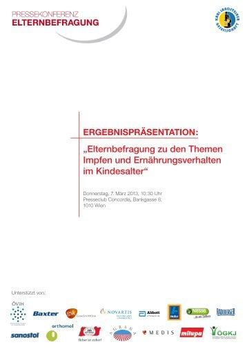 """""""Elternbefragung zu den Themen Impfen und Ernährungsverhalten ..."""