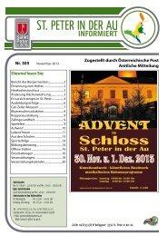 Infoblatt Nr. 305 November 2013 - in St. Peter in der Au