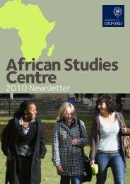 2010 Newsletter - African Studies Centre - University of Oxford
