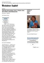 Wiesbadener Tagblatt - Gabriele Schmiedgen liest in Idstein über ...