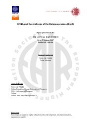 ENQA & the Bologna process - Institute for Higher Education Policy